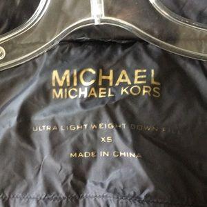 Michael Kors Black Down Filled Vest with Hood